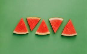Картинка green, арбуз, зеленый фон, background, watermelon