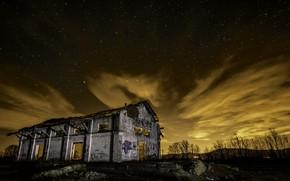 Картинка ночь, дом, фон