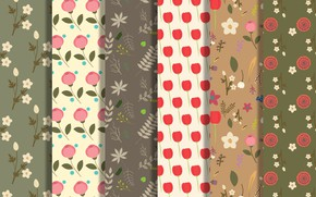Картинка background, pattern, Vector, collection, fabric, Floral