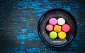 Обои macaroon, макаруны, colorful, wood, sweet, macaron, french, сладкое, десерт, dessert, пирожные