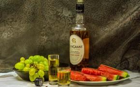 Картинка еда, арбуз, виски