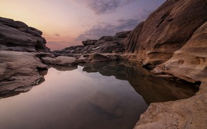 Картинка небо, вода, пейзаж, природа, камни