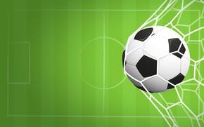 Картинка фон, сетка, футбол, спорт, игра, мяч, вектор, ворота, зелёный, гол