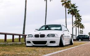 Картинка Авто, Белый, BMW, Машина, БМВ, Автомобиль, E46, BMW M3, Передок, Немец, BMW E46, BMW E46 …