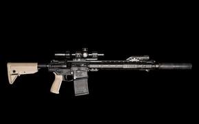 Картинка оружие, глушитель, штурмовая винтовка