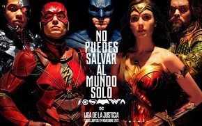 Картинка Wonder Woman, Batman, Movie, Cyborg, Flash, Aquaman, Justice League, Лига справедливости