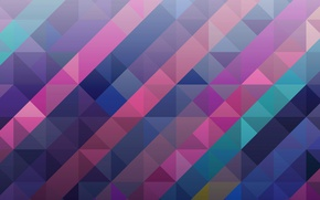 Обои абстракция, квадрат, объем, краски, треугольник
