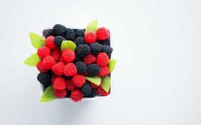 Картинка малина, еда, конфеты, ежевика, мармелад