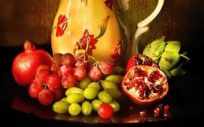 Картинка ягоды, кувшин, фрукты