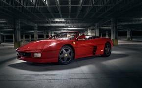 Картинка красный, спорткар, Ferrari 348