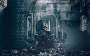 Обои John Watson, TV series, Dr. John Watson, 2017, Benedict Cumberbatch, Sherlock Holmes, John, smile face, ...