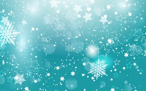 Картинка снежинки, текстура, christmas, звездочки, stars, snowflakes