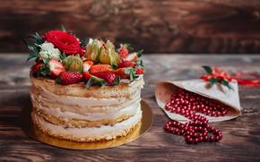 Обои ягоды, торт, cake, десерт, dessert, berries