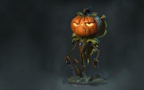 Картинка арт, трость, тыква, хэллоуин, мистер, The True Pumpkin, Rafael Mesquita