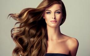 Картинка model, hair, brunette, look