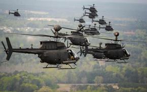 Картинка вертолёты, OH-58, Kiowa