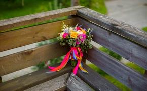 Картинка лето, семья, невеста, свадьба, букет невесты