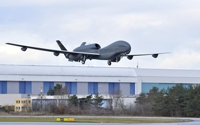 Картинка military, Germany, flag, aviation, Euro Hawk, drone, vant, Northrop Grumman RQ-4 Global Hawk, sub-version of …