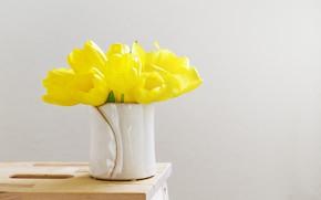 Картинка букет, тюльпаны, ваза, tulips, vase, bouquet