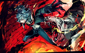Картинка улыбка, аниме, Fate / Grand Order, арт, парень
