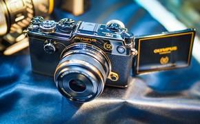 Картинка фон, фотоаппарат, объектив, Olympus
