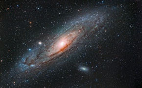 Обои M 31, Галактика Андромеды, NGC 224, спиральная