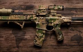 Картинка дизайн, камуфляж, раскраска, карабин, штурмовая винтовка
