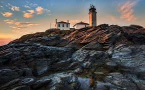 Картинка природа, берег, маяк