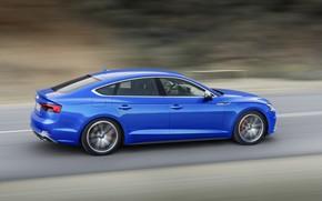 Обои German, S5, Blue, 2018, Drive, A5, Road, Speed, Audi