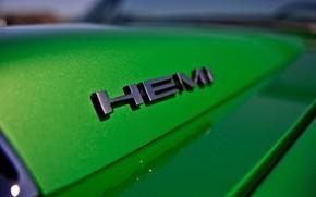 Картинка Muscle, Cars, Green, Logo, Old, Hemi