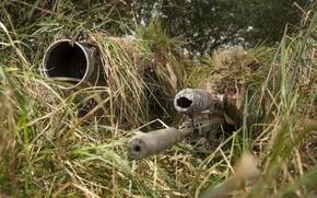Обои снайпер, камуфляж, винтовка, напарник
