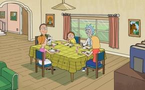Обои мультфильм, Рик и Морти, Rick and Morty, мульт-сериал, сериал