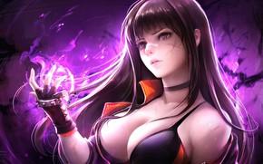 Обои Девушка, Грудь, Перчатки, Dungeon Fighter Online