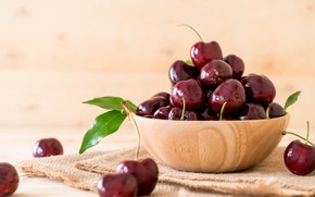 Картинка вишня, фрукты, спелая, вкусно