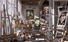 Картинка мастерская, предметы, студия, нагромождение, ARTISTIC FREEDOM