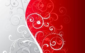 Обои текстура, abstract, красный фон, background, plant, floral