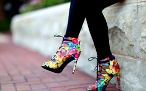 Картинка девушка, стиль, цвет, каблуки, ножки