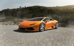 Обои Italia, Asphalt, VAG, Lamborghini, Yellow, Huracan, Green