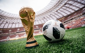 Картинка Мяч, Футбол, Россия, Adidas, 2018, Стадион, ФИФА, FIFA, Лужники, Кубок, ЧМ 2018, Чемпионат мира по …