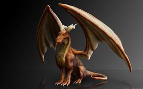Обои статуэтка, мифология, дракон