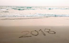 Картинка песок, море, волны, пляж, лето, summer, beach, sea, blue, sand, 2018, wave
