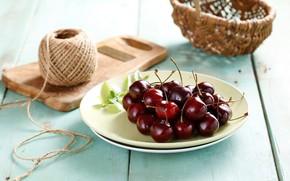 Картинка ягода, черешня, вкусная, сочная