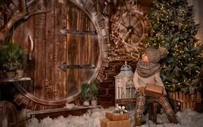 Картинка праздник, елка, новый год, девочка