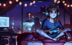 Картинка Game, Blizzard Entertainment, Overwatch, D.Va, Ханна Сон, Hanna Son