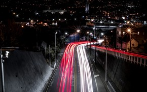Картинка light, road, night
