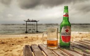 Картинка бокал, бутылка, пиво