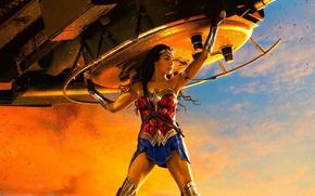 Картинка cinema, Wonder Woman, armor, movie, brunette, film, warrior, tank, DC Comics, Diana, strong, Gal Gadot, …