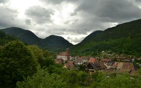 Обои Mountains, Панорама, Panorama, Юрбес, Urbes, Горы, France, Франция