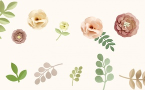 Обои листья, природа, цветы