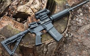 Картинка винтовка, американская, AR-15, полуавтоматическая